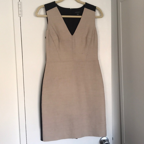 bda41394 Ann Taylor Dresses | Linen And Black Sheath Dress 0 | Poshmark